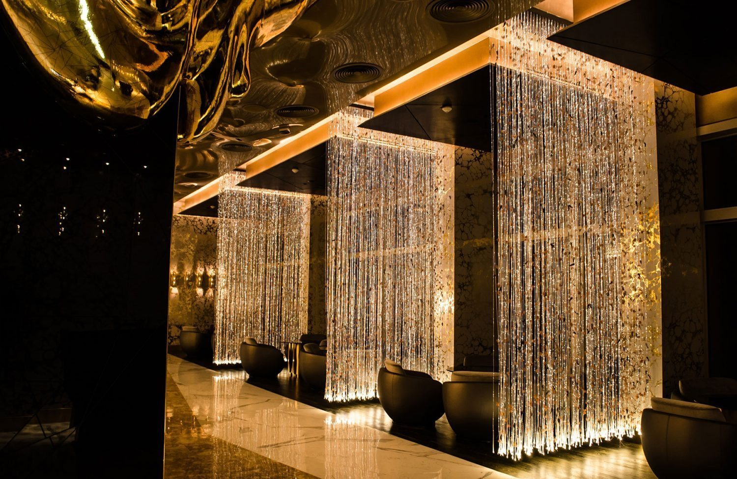 Gold on 27 burj al arab ecosense lighting for Al saffar interior decoration llc